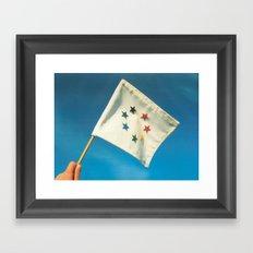 Earth Flag Framed Art Print