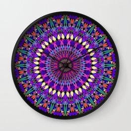 Bohemian Blossom Mandala Wall Clock