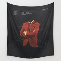 depression Wall Tapestries featuring Manhood by Frank Moth