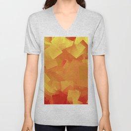 Cubism in orange Unisex V-Neck