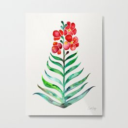 Blooming Orchid – Red & Green Palette Metal Print
