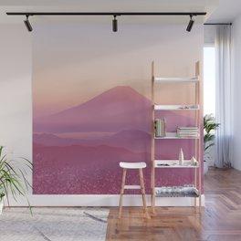 Mountain Sunset Wall Mural