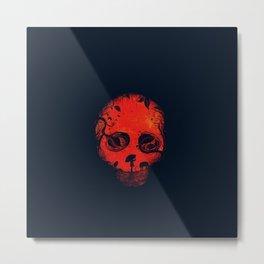 Disguised Skull Metal Print