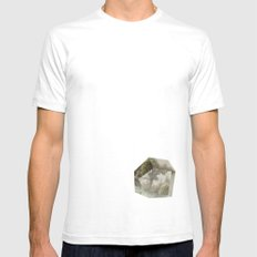 Serenity White SMALL Mens Fitted Tee
