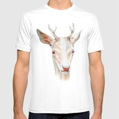 Stag Mens Fitted Tee White MEDIUM