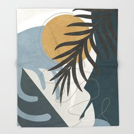 Abstract Tropical Art II Throw Blanket