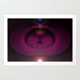 Cosmic Plumb. Art Print