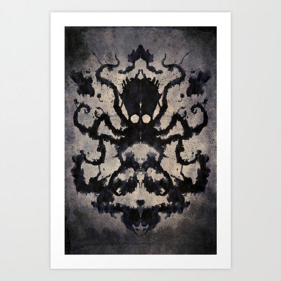 Rorschach octopus Art Print