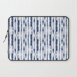 Shibori Stripes 2 Indigo Blue Laptop Sleeve