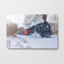North Pole Express Train (Steam engine Pere Marquette 1225) Metal Print