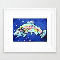 trout Framed Art Prints featuring Trout Pout by waggytailspetportraits