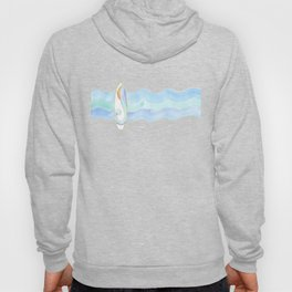 Surfboard retro watercolor Hoody