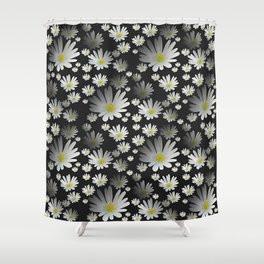Daisies pattern as 3D texture Shower Curtain