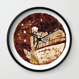 Of moths and fairies Wall Clock