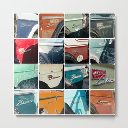 Early Ford Bronco Emblems Metal Print