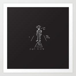 Vectorised Basquiat 80s Punk Rock / ska record cover Art Print