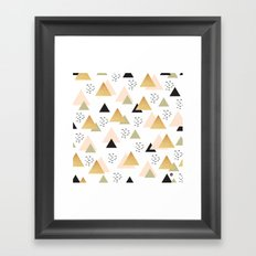 Geometric triangles Framed Art Print