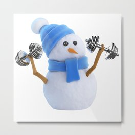 Keep Winter Weight Off Metal Print