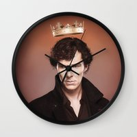 king Wall Clocks featuring King by tillieke