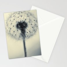 dandelion silver blue Stationery Cards