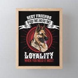 German shepherd dog t-shirt gift dogs fans Framed Mini Art Print