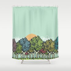 Enchanted Wood Shower Curtain