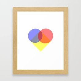 Simple Love Framed Art Print