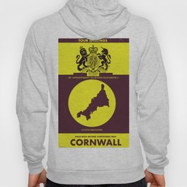 Cornwall vintage style map poster Hoody