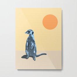 Meerkat Suricata TAM TAM TAM Metal Print