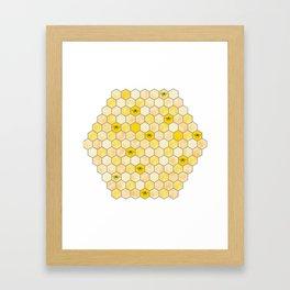 Honeycomb of Honey Bees Framed Art Print