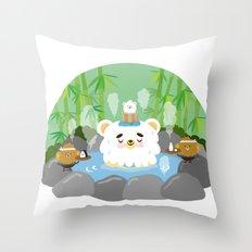 ollaお湯 Throw Pillow