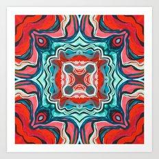 Red V Art Print