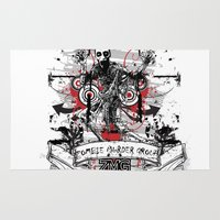 zombie Area & Throw Rugs featuring Zombie by DaeSyne Artworks