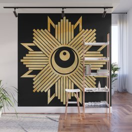Graphic 960 // Gold Eye Star Deco Wall Mural