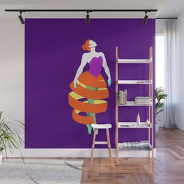 Orange peel ballerina dance Wall Mural