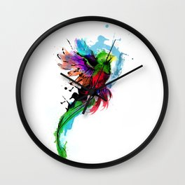 Watercolor Quetzal  Wall Clock