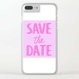 Save The Date Clear iPhone Case