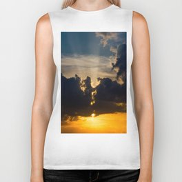 Sunset in the city Biker Tank