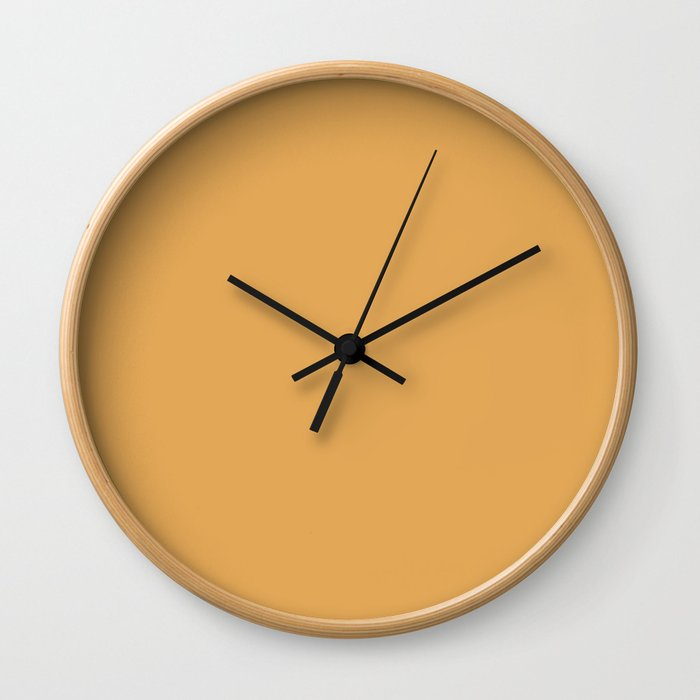 Pink Confection ~ Golden Poppy Wall Clock