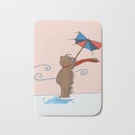 Benito in the rain Bath Mat