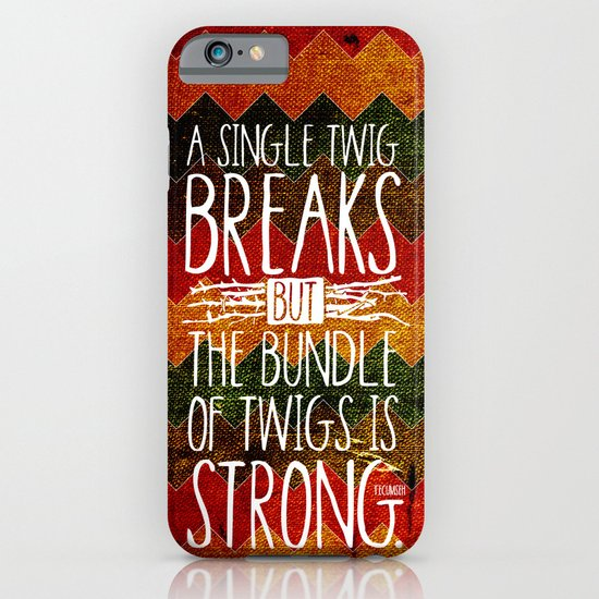 Tecumseh Quote iPhone & iPod Case