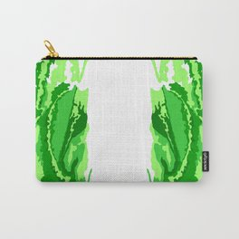 Abstract green print Carry-All Pouch