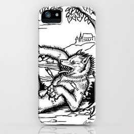Werewolf Hunting medieval style iPhone Case