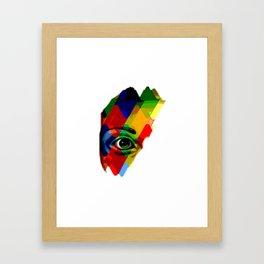 eye posterize Framed Art Print