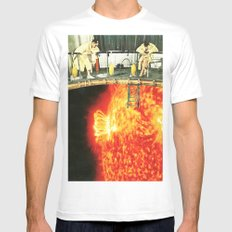 experiment MEDIUM White Mens Fitted Tee