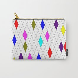 A Harlequin Design Like Stained Glass Carry-All Pouch