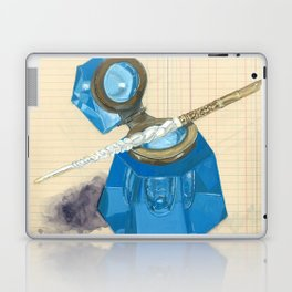 Blue Crystal Inkwell and Dip Pen in Gouache Laptop & iPad Skin