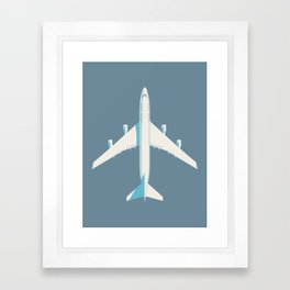 747-400 Jumbo Jet Airliner Aircraft - Slate Framed Art Print