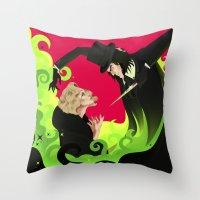 ahs Throw Pillows featuring AHS by Matias G. Martinez