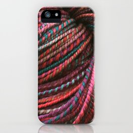 Stickley Verdigris - Handspun and Hand Dyed Yarn iPhone Case